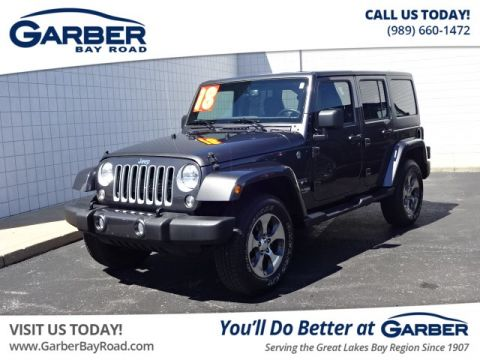 PRE-OWNED 2018 JEEP WRANGLER JK UNLIMITED SAHARA (4DR 4X4) 4WD