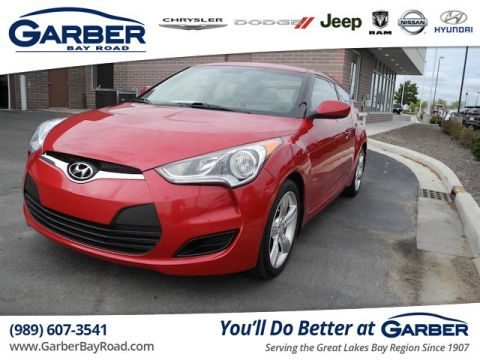 PRE-OWNED 2012 HYUNDAI VELOSTER BASE W/RED/BLACK
