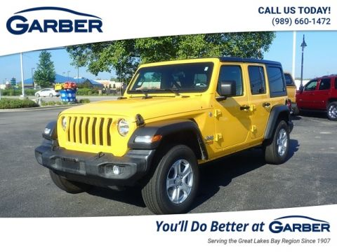 PRE-OWNED 2020 JEEP WRANGLER UNLIMITED SPORT 4WD
